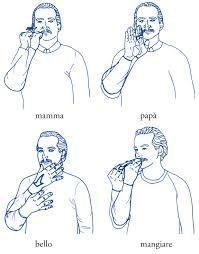 Risultati immagini per linguaggio dei segni
