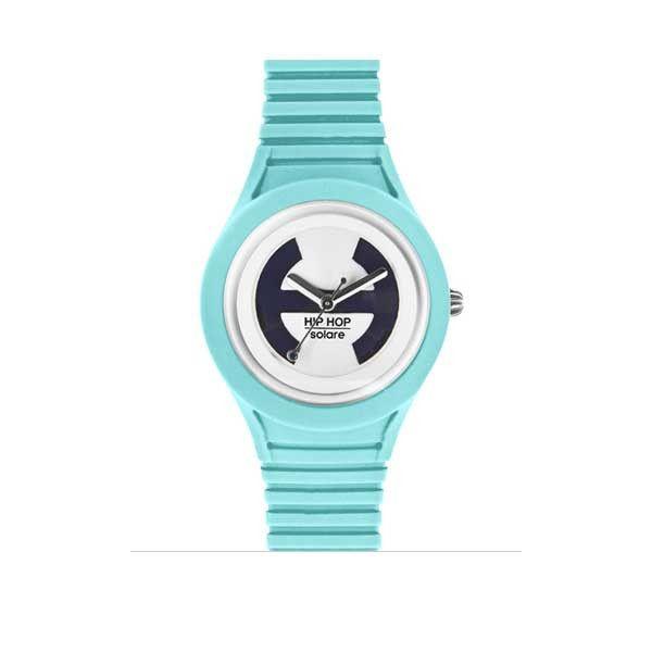 Toni delicati per questo orologio con cinturino in silicone e pannello solare integrato. La novità della nuova estate degli orologi Hip Hop, imperdibile, un must have!
