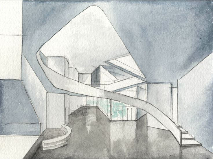 Croquis Steven Holl -   INSTITUTE FOR CONTEMPORARY ART,  VIRGINIA COMMONWEALTH UNIVERSITY  Richmond, VA, United States,   July 2011-2015