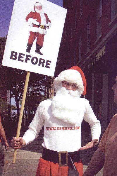 Before after santa