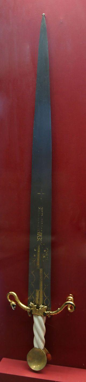 KHM Wien A 49 - Ceremonial sword of the Order of the Dragon, c. 1433 - Order of the Dragon - on display in Neue Burg Vienna