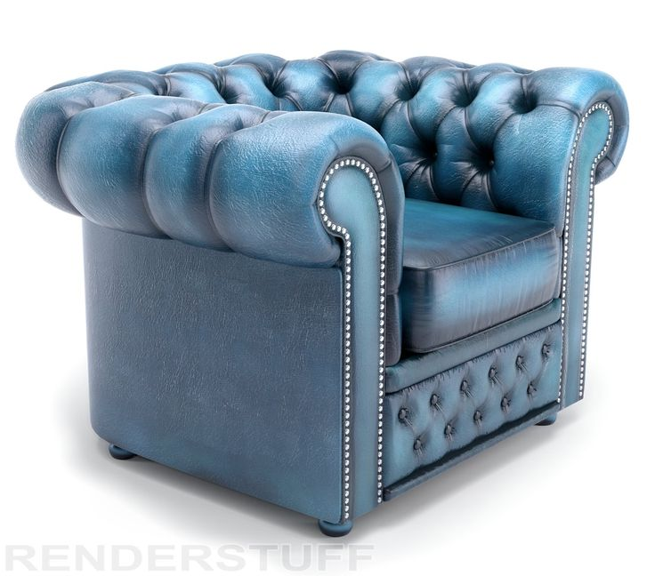 Vintage blue chesterfield sofa