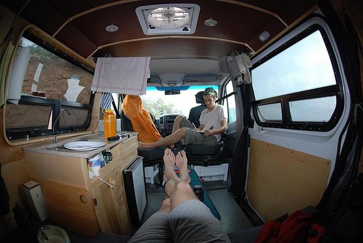 Sprinter Van Life >> DIY Sprinter, swivel seating for more room - http://www.sprinter-rv.com/diy-gallery/ | Aa Van ...