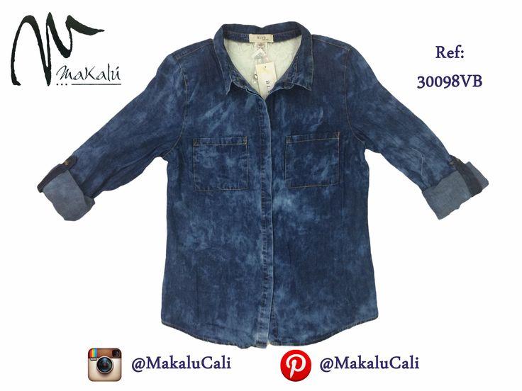 Blusa para Dama en Jean...  #Blusas #indigo #makalucali #centrocomercialBahia #CentroComercialEltesoro #RopaAmericana #Cali #Colombia #ModaFemenina #tendencias #tiendasMakalu