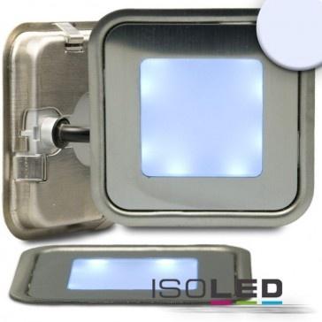 """LED Bodenstrahler """"SLIM-OUT"""", quadr., IP67, edelstahl, kaltweiß / LED24-LED Shop"""