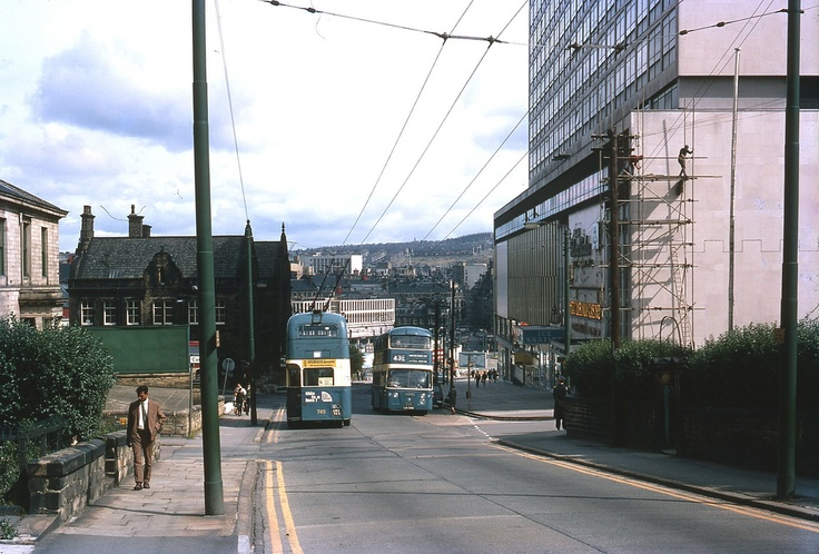 Bradford down by the Ice Rink. My first home was above the Oddfellows club just across the road; to the left of this picture.