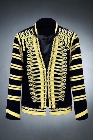 Velvet Golden Napoleon Jacket