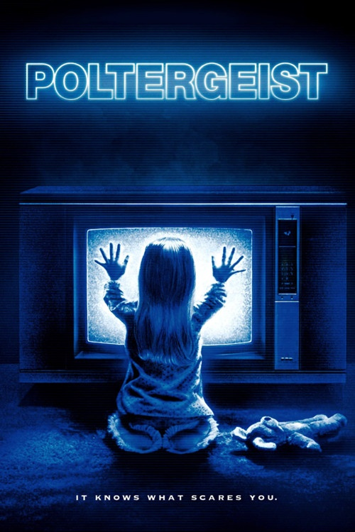 Poltergeist (1982) -- Taglines: #1 They're here. #2 It knows what scares you. #3 From a dimension beyond the living, a terror to scare you to death. #4 Some things have to be believed to be seen. -- Director:  Tobe Hooper --   Original Music by  Jerry Goldsmith -- Cast: Craig T. Nelson, JoBeth Williams, Heather O'Rourke, Beatrice Straight, Dominique Dunne, Oliver Robins, Zelda Rubinstein, Richard Lawson, Sonny Landham, Lou Perryman, James Karen