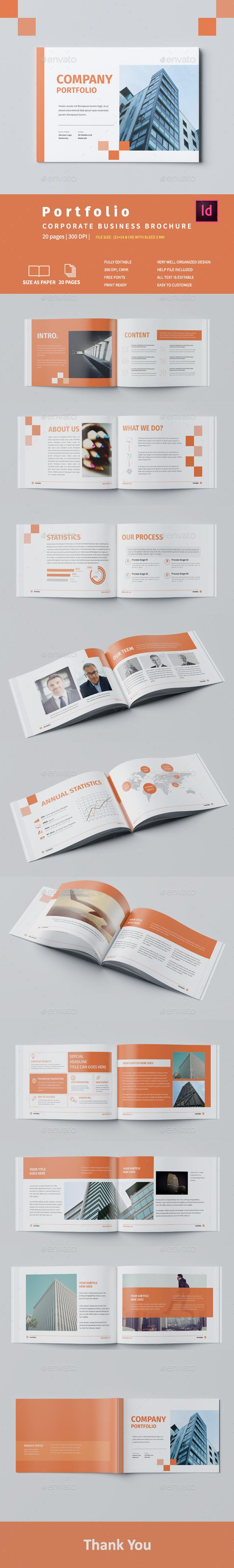 Company Portfolio A5 Brochure Template InDesign INDD
