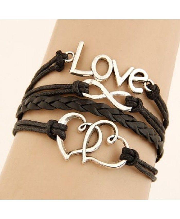 Brown Leather 'Love' Bracelet £3