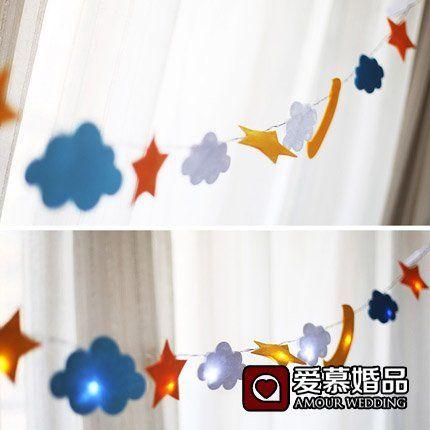 Nene Sterne Wolken Kinder Zimmer Ist Gut Eingerichtet Und Dekoriert Led  Non Woven Tuch Ziehen