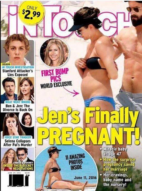 Jennifer Aniston future maman?