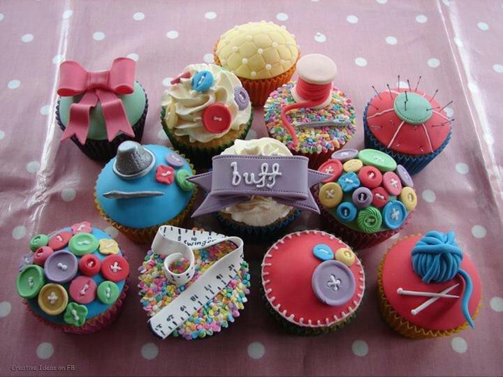 Sewing cupcakes