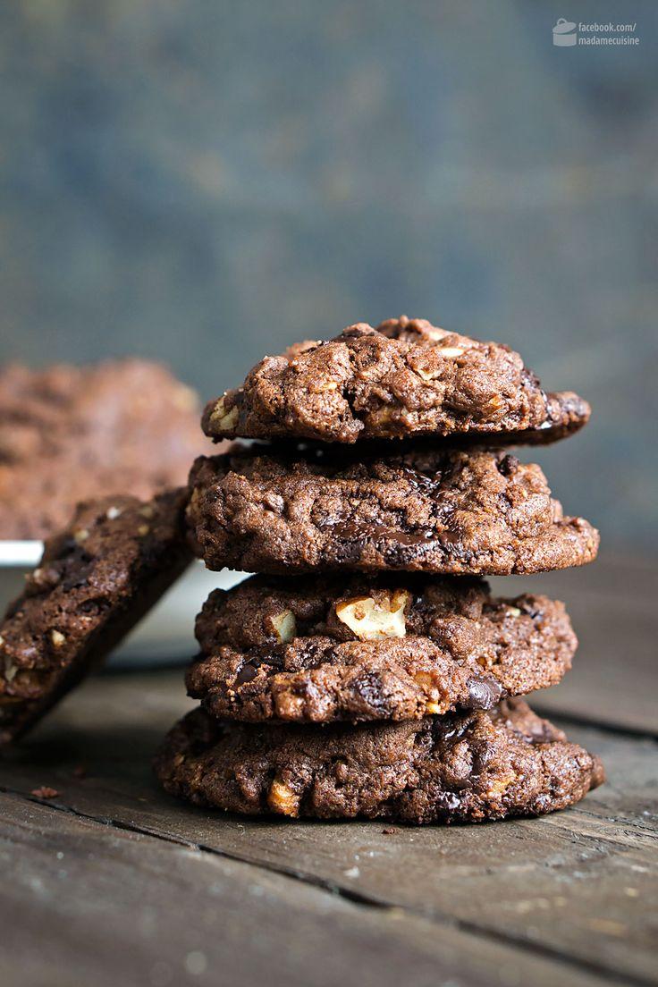 Double-Chocolate Pecan Cookies | Madame Cuisine Rezept