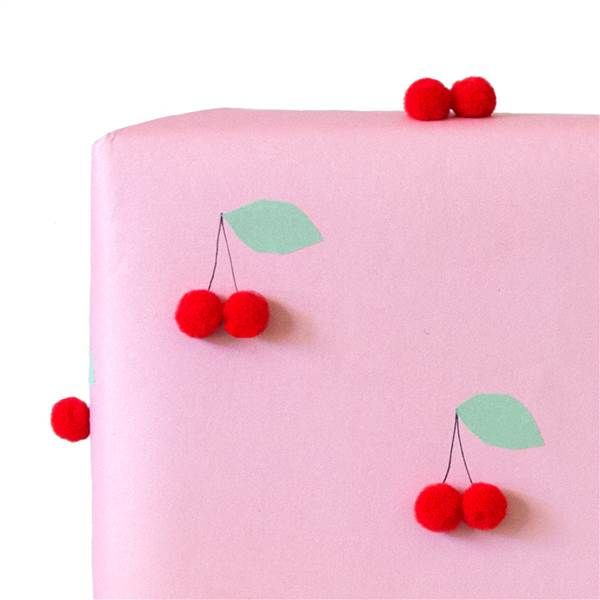 Weekend DIY: Cheery cherry wrapping paper for Mother's Day gifts