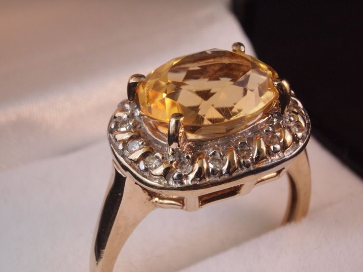 Vintage Diamond Topaz 10K 10ct Gold by BelmontandBellamy on Etsy, £139.00