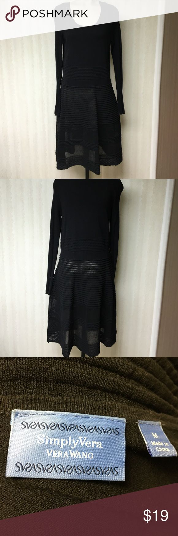 Simply Vera dress Simply Vera black dress with sheer detail. Size M. Worn once. Great with tights and boots!! Simply Vera Vera Wang Dresses