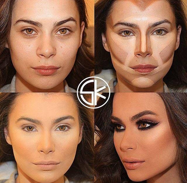 Megmutatjuk nektek az összes létező arcformát és a hozzájuk tartozó tökéletes sminkelés minden csínját - bínját teljesen egyértelműen és részletesen fotókkal lépésről lépésre. Nincs szükséged többé profi sminkesre, mikor Te magad is az lehetsz :) Próbáljátok ki Ti is! :) 6