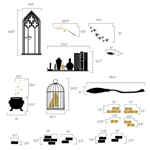 Harry Potter inspiré chambre Collection d'Assistant par danadecals