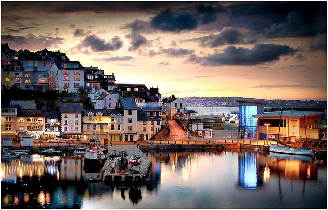 Brixham, England.  I would like to go to this pretty place, please.