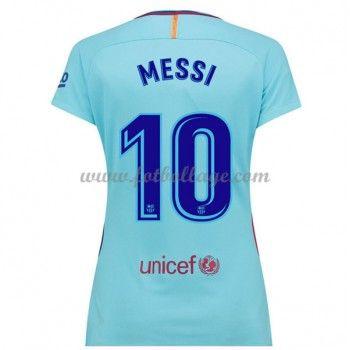 Barcelona Fotbollströjor Dam 2017-18 Lionel Messi 10 Borta Matchtröja