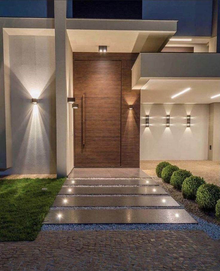 Modern Entrance Door, Home Entrance Decor, House Entrance, Entrance Design, Door Design, Design Art, Home Decor, House Front Design, Modern House Design