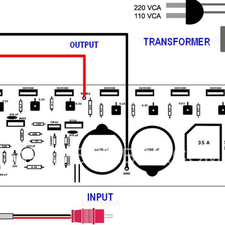 400 Watt 70 Volt Amplifier Schematic  U0026 Pcb Layout Design