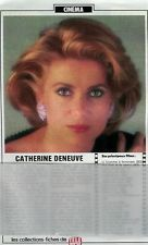 Catherine Deneuve / 1985 / Fiche / 1p. / Coupure de presse, clipping