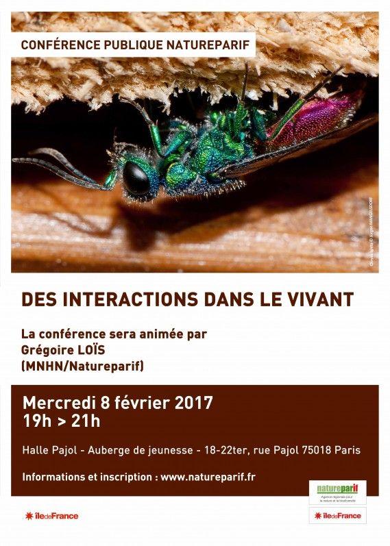 Conférence publique : Des interactions dans le vivant @Natureparif http://www.pariscotejardin.fr/2017/02/conference-publique-des-interactions-dans-le-vivant/