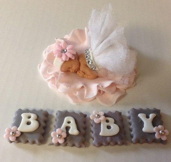 Petite fille de la princesse BABY SHOWER Cake Topper Fondant Cake Topper