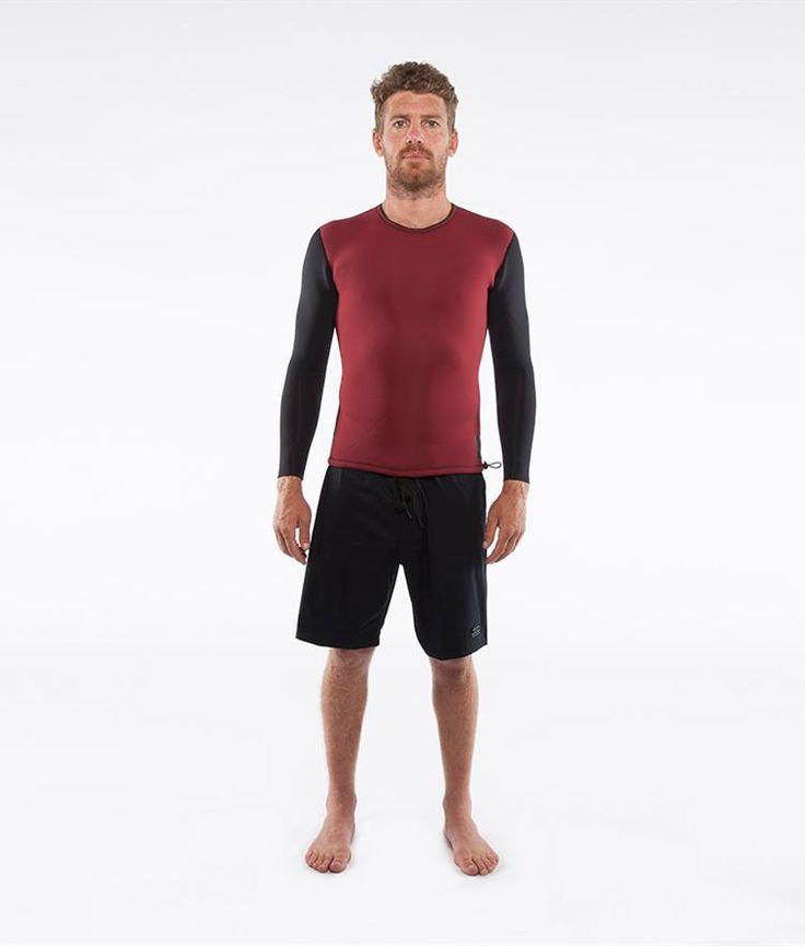 Chase Burgundy/Blk Reversible L/S Vest