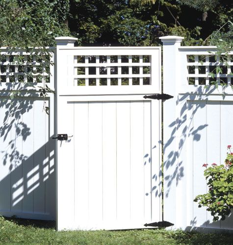 How to Build a Fence - DIY Backyard Fences, Plans & Designs. Love this style.