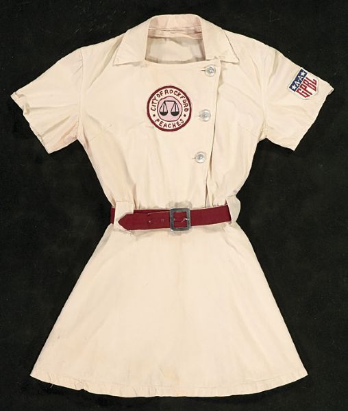 """Rockford peach uniform from """"A League of Their Own"""". I used to watch this movie all the time!"""