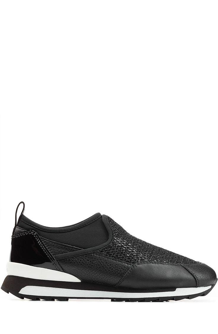 HOGAN REBEL Mesh And Leather Slip-Ons. #hoganrebel #shoes #sneakers