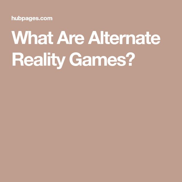 What Are Alternate Reality Games?
