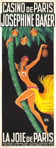 Josephine Baker in La Joie de Paris. Casino de Paris, 1932