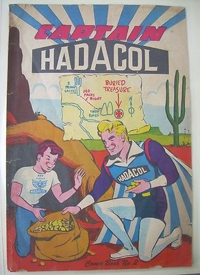 vintage RARE comic book CAPTAIN HADACOL #2 cult classic snake oil ...