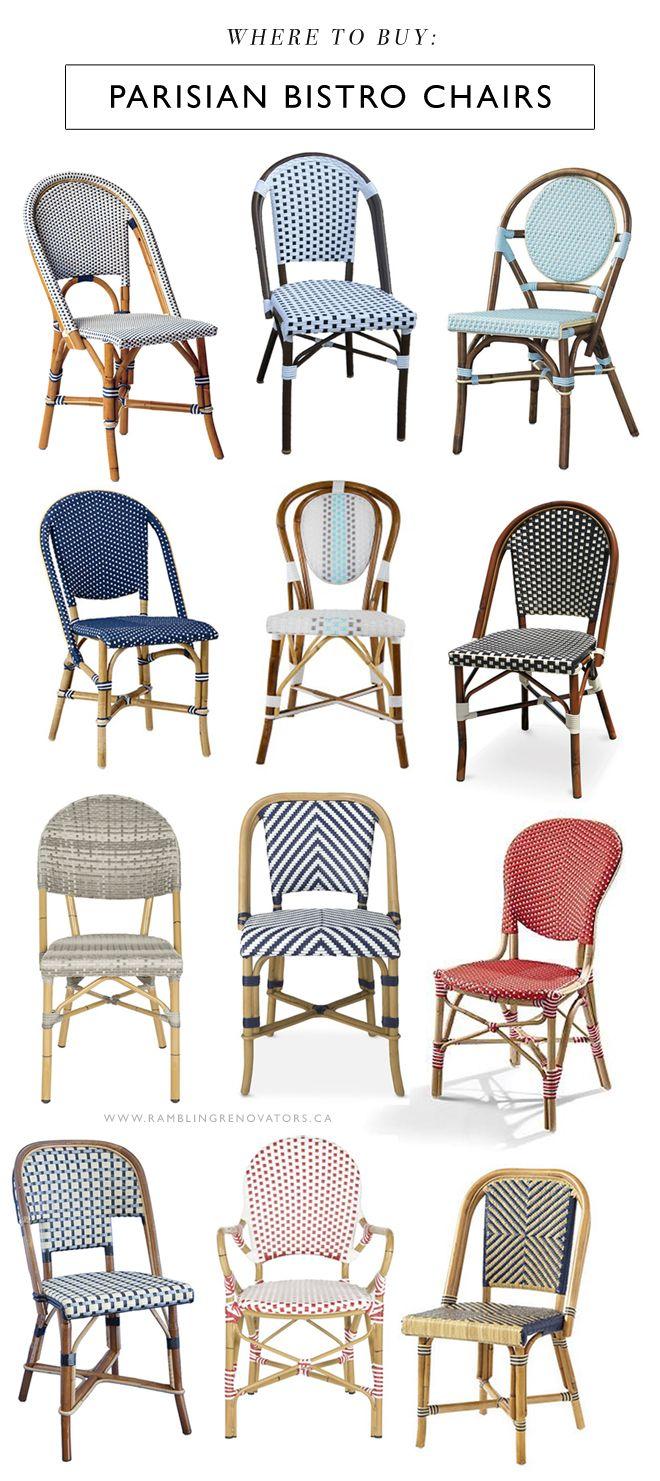 Where To Buy Parisian Bistro Chairs (Rambling Renovators)