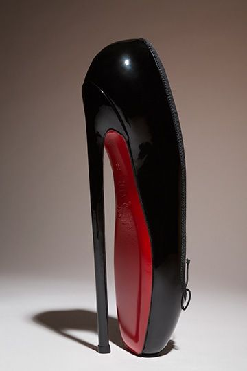 """Christian Louboutin, """"Fetish Ballerine,"""" 2007 - - - - WOAH. How in the world do you wear these?!?!?!??!"""