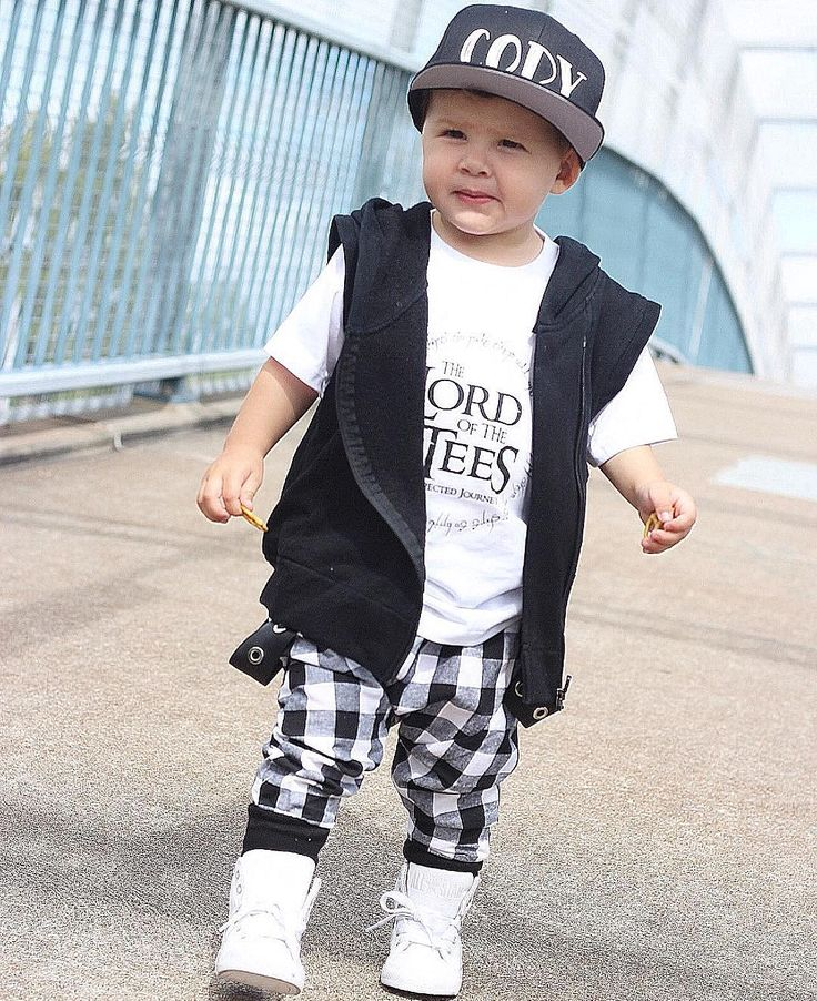 For all monochrome lovers  Handsome Cody @taylor_kids rocks a 3 pieces Mischief & Co. combo -vest tee and pants-  Most of these items have sold out in popular sizes as we are getting ready for a new collection  keep your eyes peeled announcements to come  http://ift.tt/1TgQUwL #mischiefandco #autumnstyle #autumnfashion #winteressentials