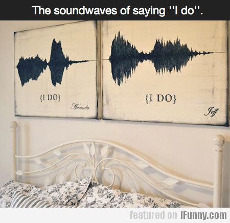 "The Soundwaves Of Saying ""i Do"""