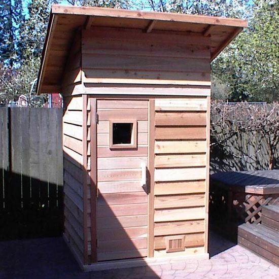 4'x4' Outdoor Sauna Kit + Heater + Accessories