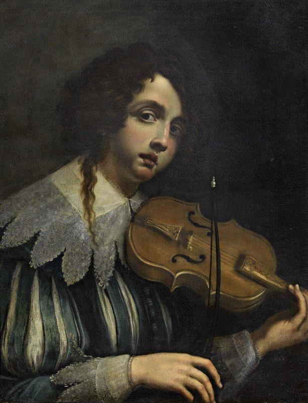 """loumargi: """"Cesare Dandini (1596-1657)Ragazzo con violino """""""