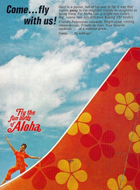 Aloha Airlines - Fly the fun birds of Aloha - Printed Ad