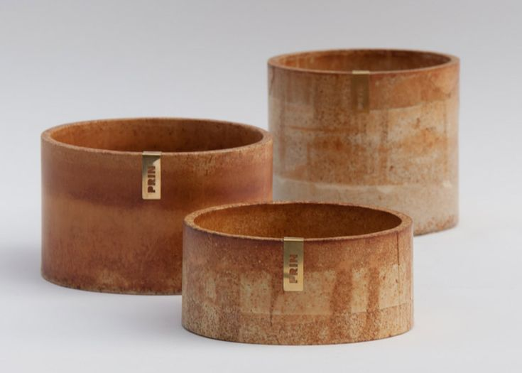 London product designer Ariane Prin has launched her debut homeware collection, which includes pots, trays, vases and jewellery boxes with a rusty tinge.