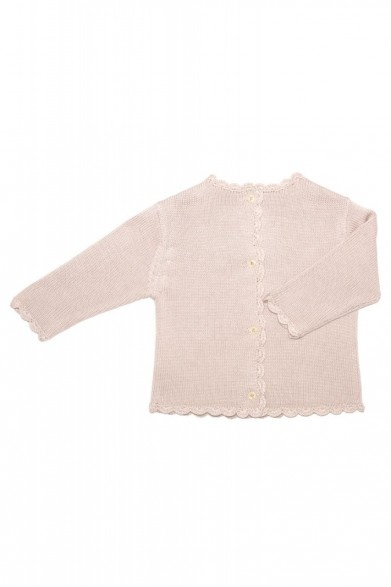 Enfant Pink Cotton Silk Cardigan