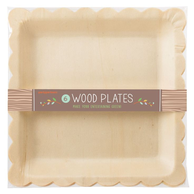 These eco-friendly and classy birch wood square plates are great for those looking for an easy clean up plastic-less party. The rich birch color will complement any party scheme. > Set of 6 plates > S