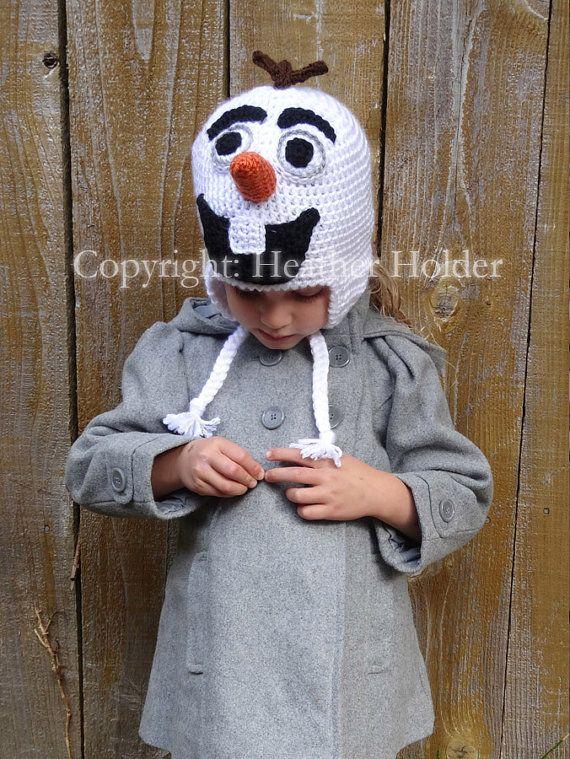Elsa Anna & Olaf Frozen Crocheted Hat Pattern 3 por HHCrafts