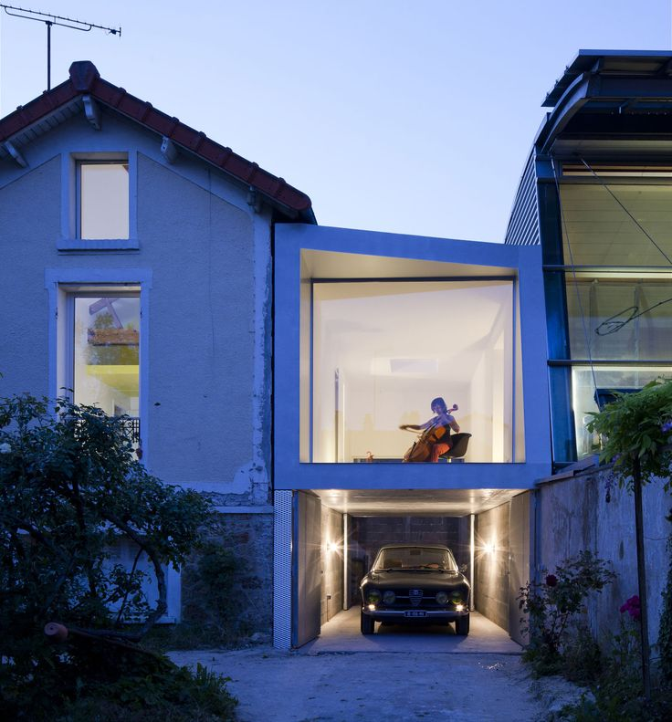 CUT Architectures, David Foessel, Luc Boegly · Cello room & Parking / Extension to a house - Part 1 · Divisare