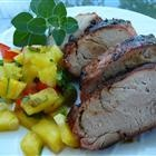 Pork Tenderloin recipe -- made with mangos instead of pineapple. Super yummy.
